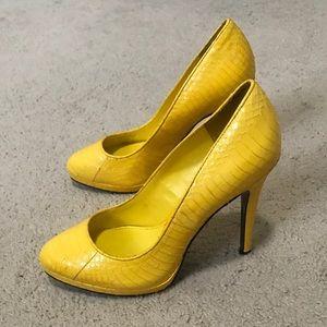 LAUREN Ralph Lauren Kailee Lemon Snake Heels